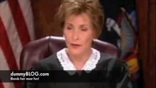 dumb blonde in court