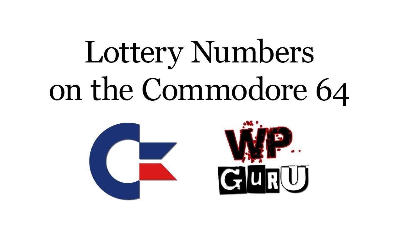 How to generate Lottery Numbers on the Commodore 64 | The WP