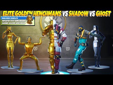 The Device's Elite Force Fortnite: Golden Henchmans Vs Shadow Vs Ghost Vs Spy. Fortnite Dance Battle