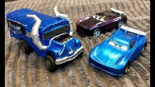 Custom Disney Cars & Fortnite Toys - DiY How to Make Miss Fritter METALLIC FORTNITE Bus & Next Gen