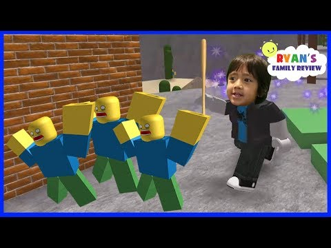 ROBLOX Noob Invasion! Let's Play with Ryan's Family Review!