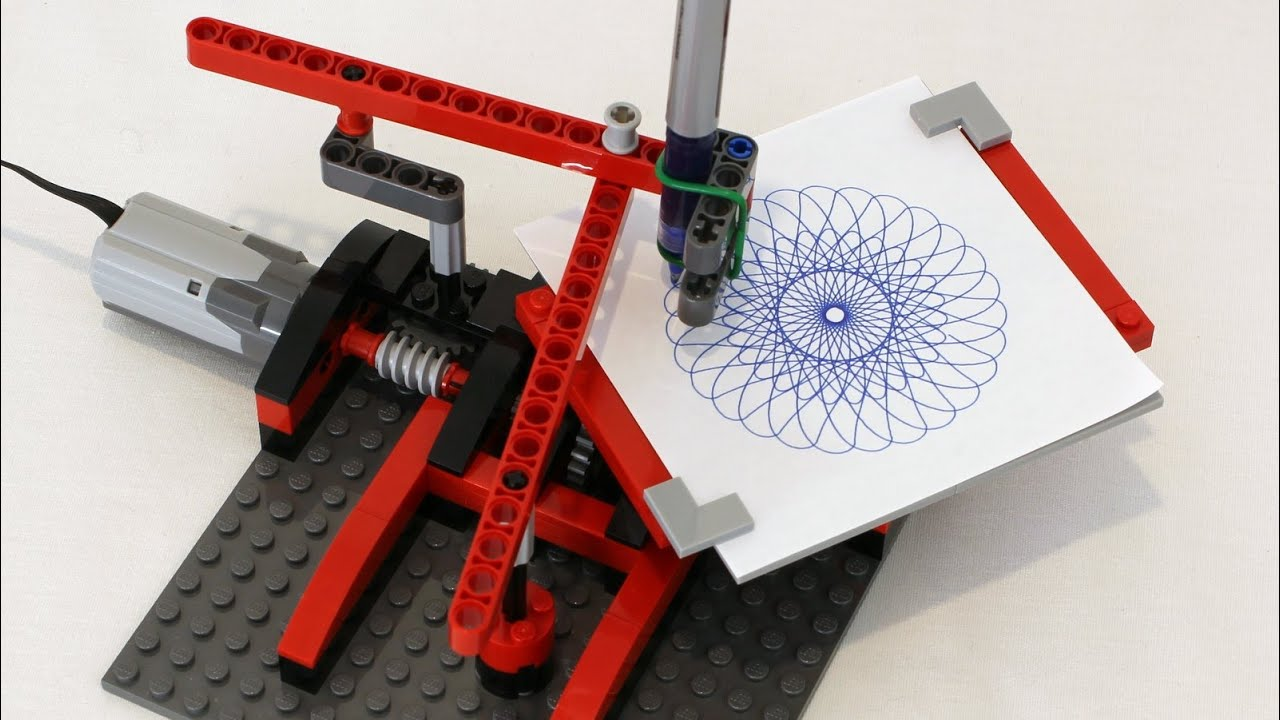 lego drawing machine spirograph youtube. Black Bedroom Furniture Sets. Home Design Ideas