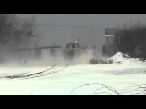 Thumbnail: CN Rail Jet turbine snow removal in Dartmouth
