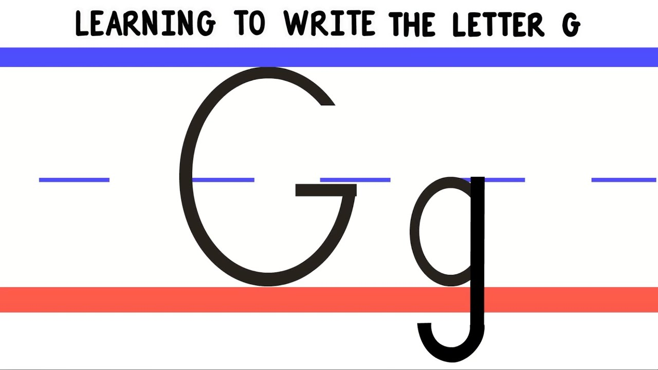Write The Letter G  Abc Writing For Kids  Alphabet Handwriting By