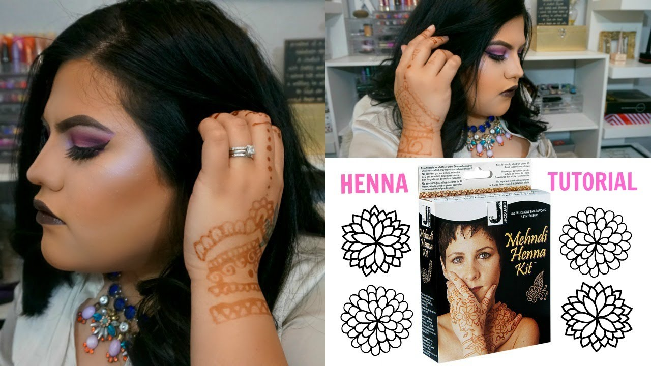 Henna Tattoo Tutorial Jacquard Mehndi Henna Kit Youtube