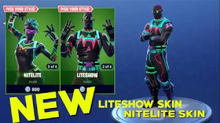 *BACK* SKINS FORTNITE | NITELITE and LITESHOW | (fortnite battle royale new skins)