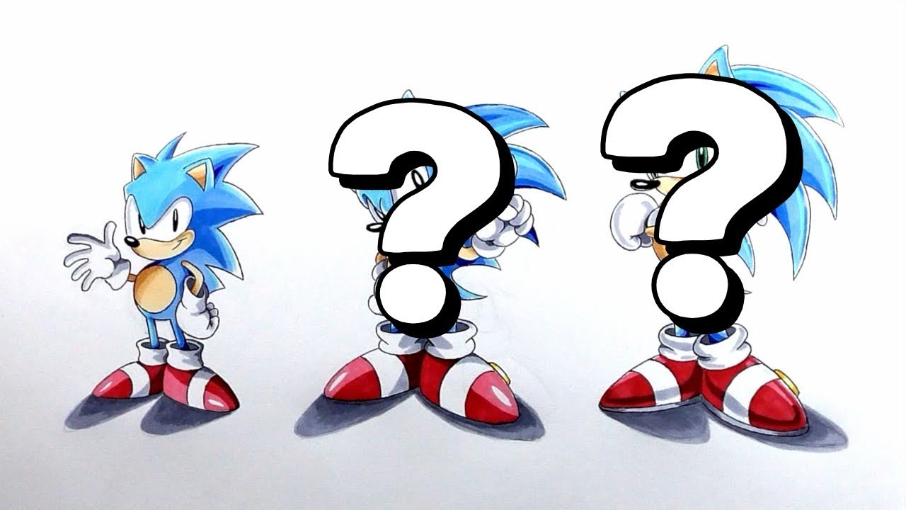 Drawing The Transition Of Classic Sonic To Dreamcast Sonic ...