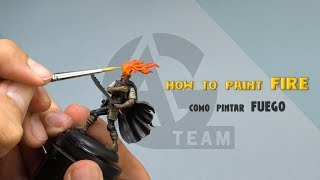 HOW TO PAINT FIRE / COMO PINTAR FUEGO - AG- Jose Gonzalez