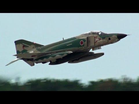 百里基地所属RF-4ファントム!!! 迫力の帰投シーン!!! 小松基地航空祭