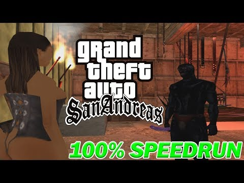 Grand Theft Auto: San Andreas - 100% Speedrun 2018 thumbnail