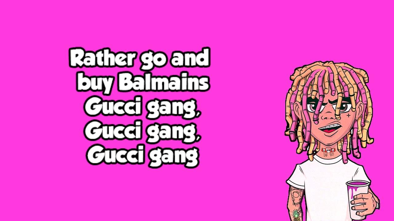 06d688bef3a Lil Pump -Gucci Gang LYRICS - YouTube
