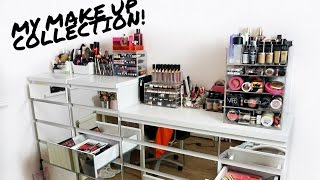 MY MAKE UP COLLECTION & STORAGE 2017 | Rachel Leary