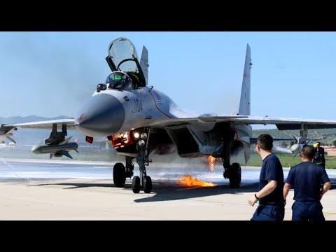 J-15 carrier fighter struck by birds, pilot saves jet bravely