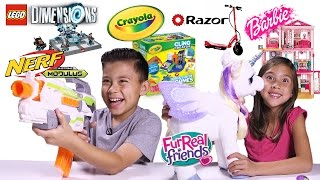 EPIC TOY REVIEW & UNBOXING! Nerf, LEGO Dimensions, Razor, Barbie Dreamhouse, Crayola, FurReal