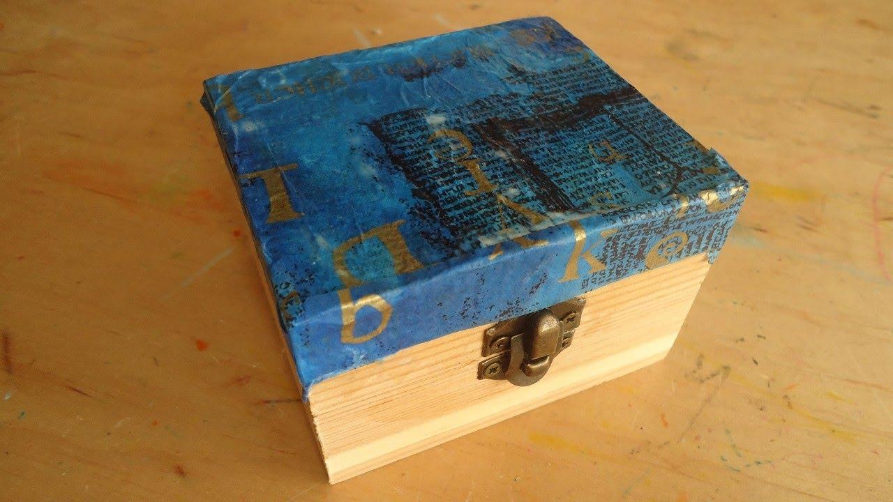 decoraci n de una caja de madera con papel de seda