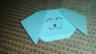Origami Dog Head (easy) - Hd