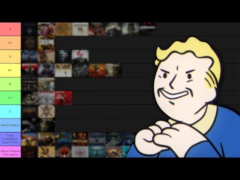 The Ultimate Bethesda Tier List | Every Game Since 1995 RANKED!