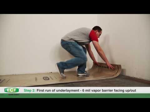 Eco Cork Foam® Underlayment Installation Instructions - YouTube
