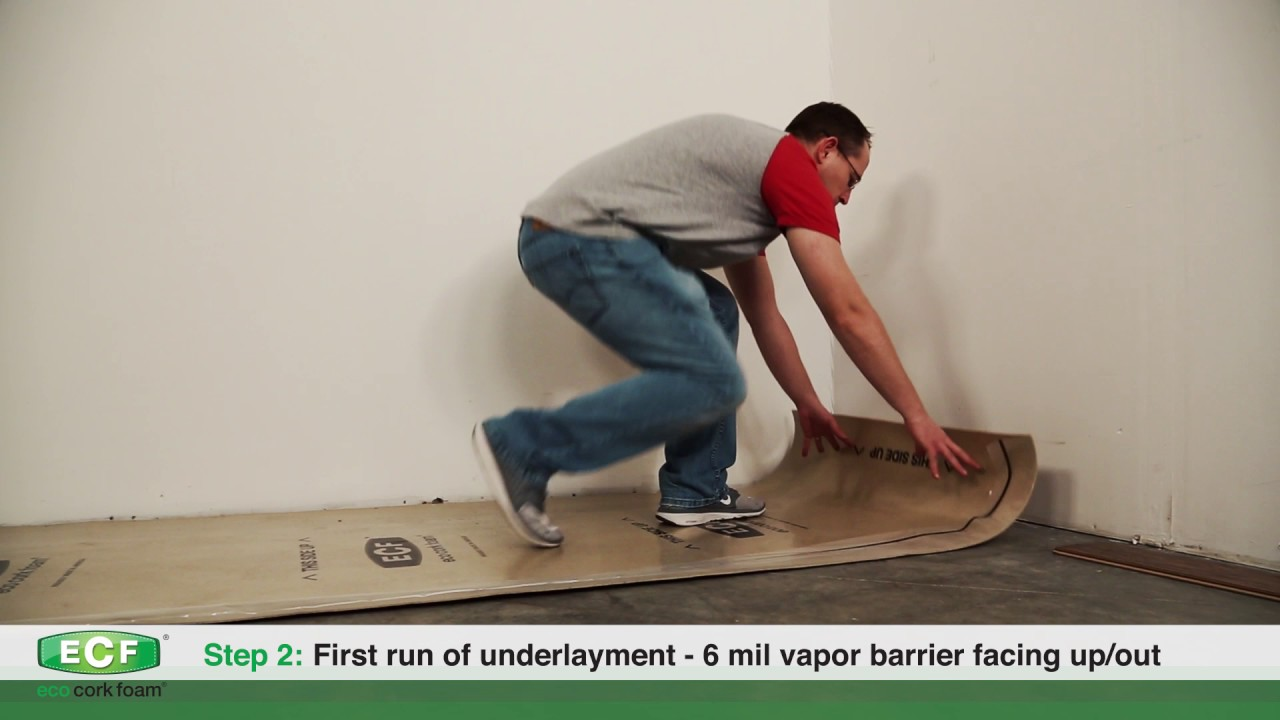 Eco Cork Foam Underlayment Installation Instructions