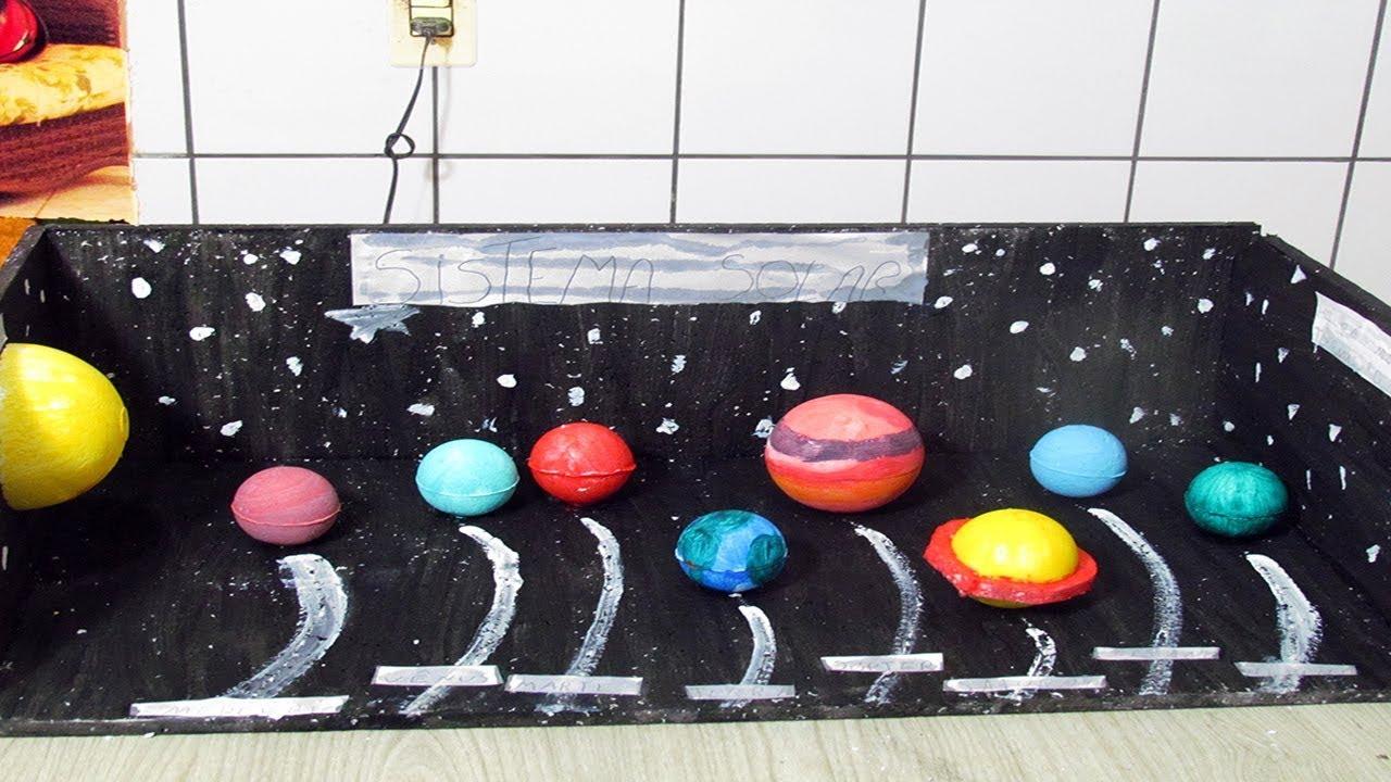Maquete Do Sistema Solar Meu 1 Trabalho Escolar