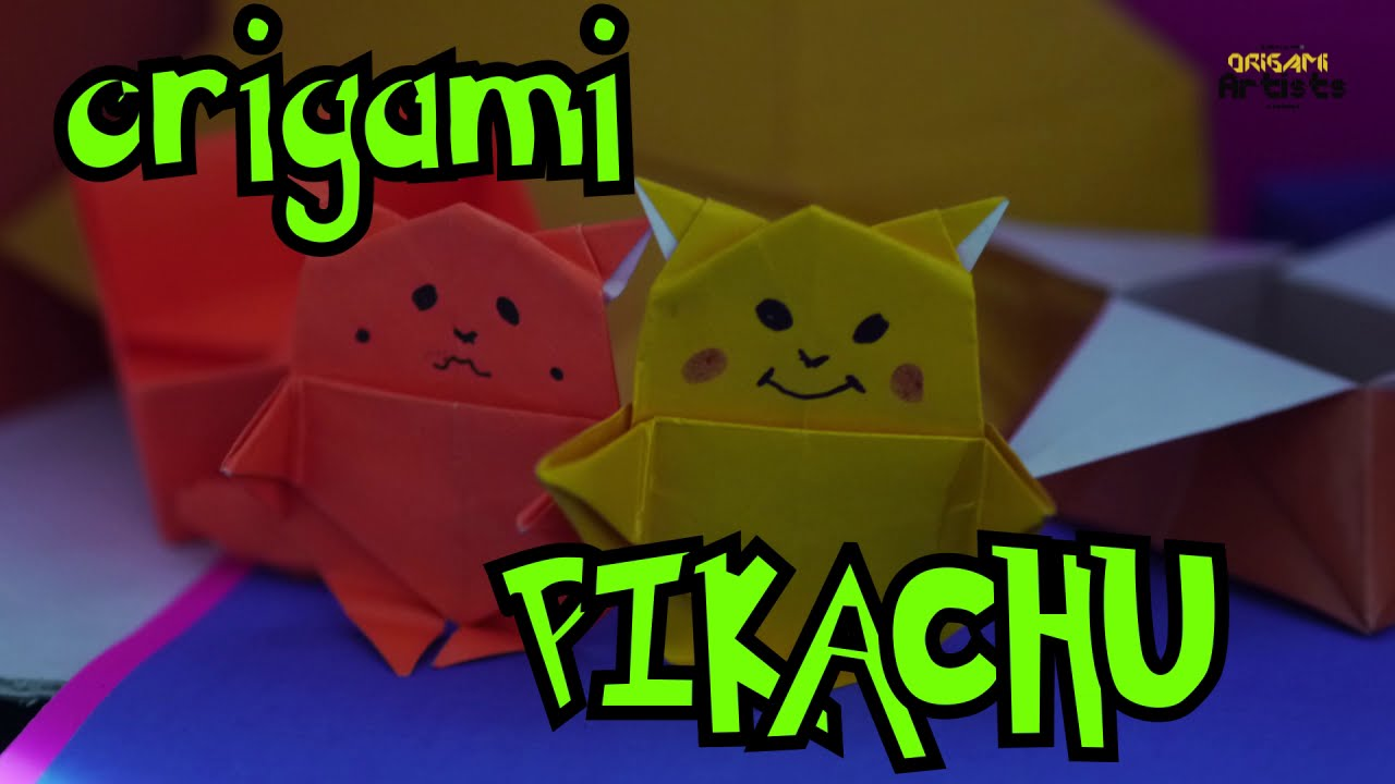 How To Make An Origami Pikachu | Visual.ly | 720x1280