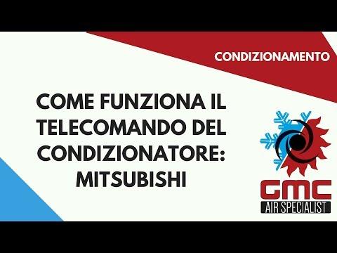 Telecomando Condizionatore Mitsubischi Youtube