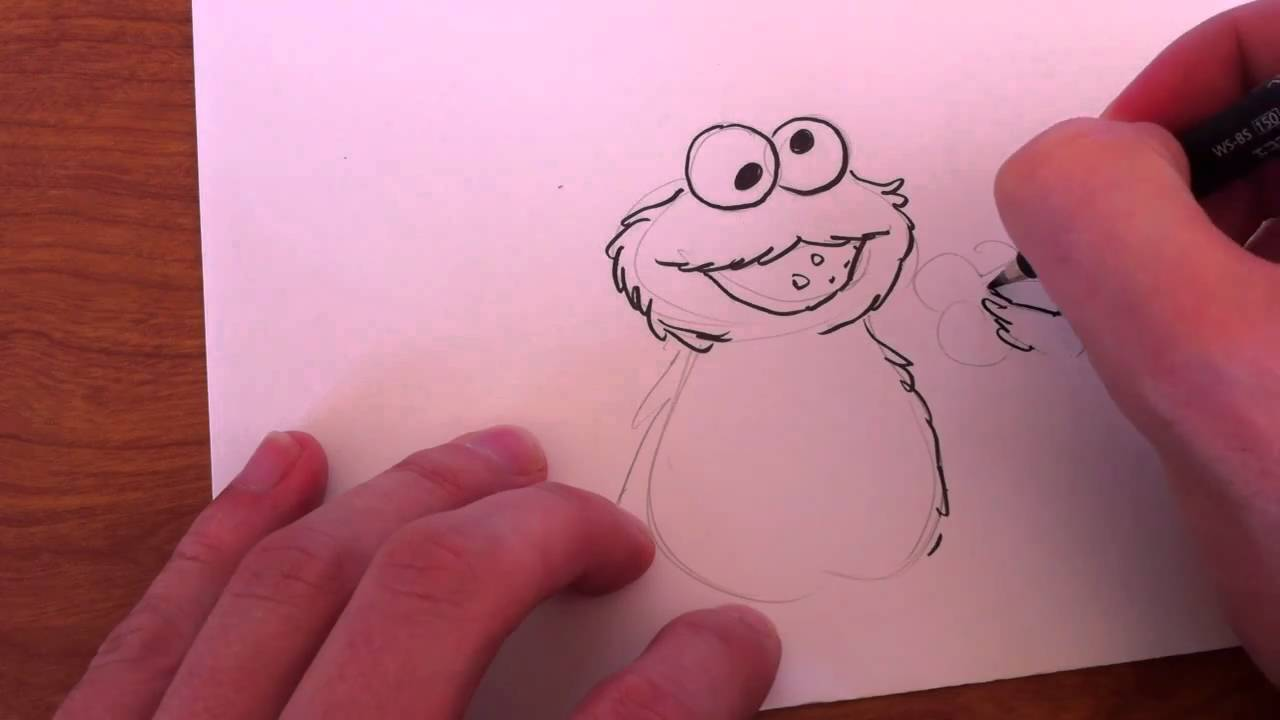 how to draw cookie monster by jim mcgee youtube