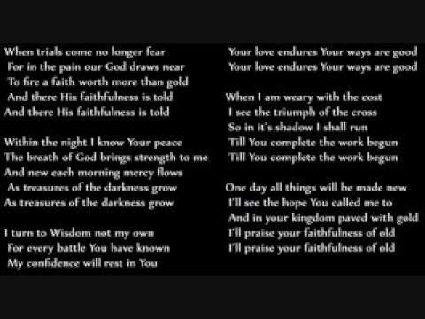 When Trials Come - Keith & Kristyn Getty