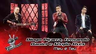Diogo Piçarra, Fernando Daniel e Sérgio Alves - Meu é Teu | Gala | The Voice Portugal