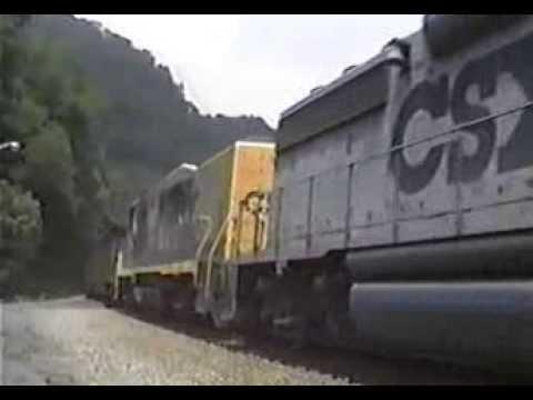 CSX Coal Train in West Virginia 6-6-1992