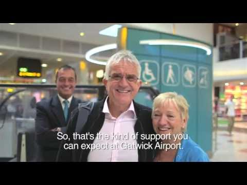 Mobility assistance at Gatwick Airport (subtitled)