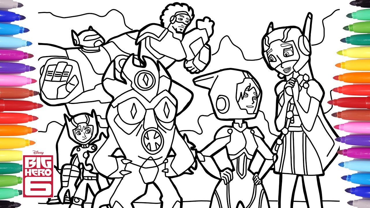 Big Hero 6 Cartoon Coloring Pages Disney Coloring Pages