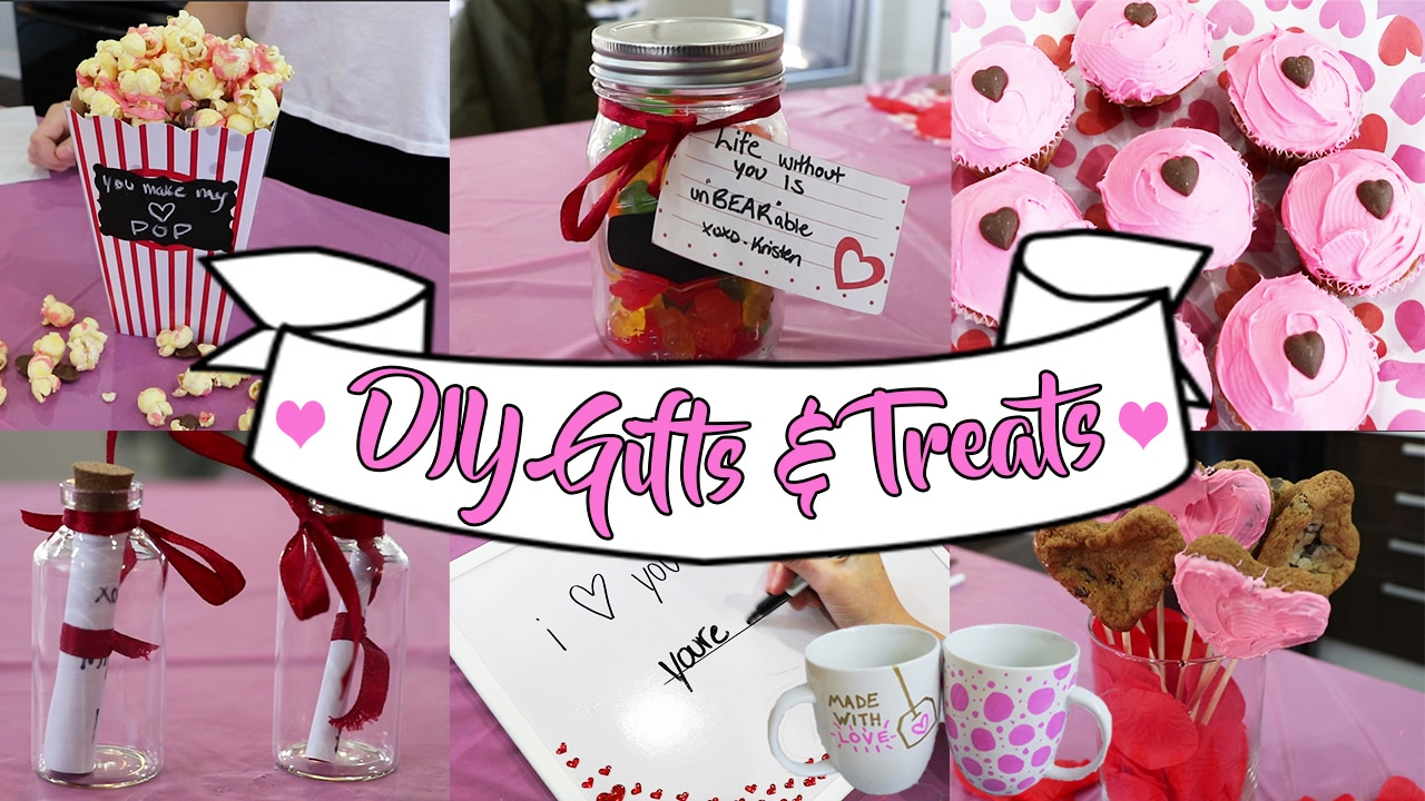 DIY VALENTINE\'S DAY GIFTS & TREATS FOR EVERYONE - YouTube