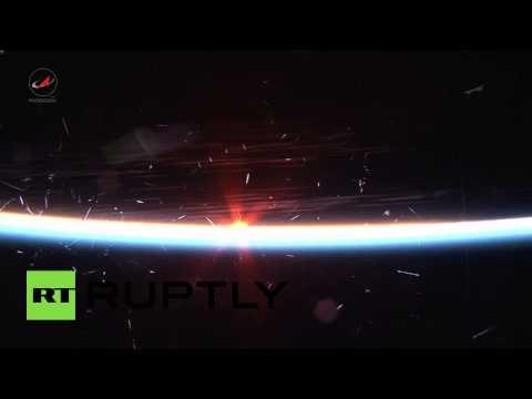Российский космонавт снял закат Солнца с борта МКС