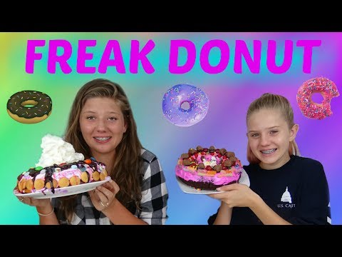 GIANT DOUGHNUTS  CHALLENGED INSPIRED BY DUNKIN
