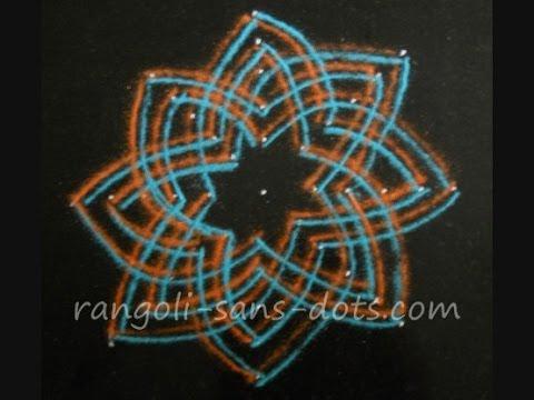 Hridaya kamalam| Lakshmi Hrudaya Rangoli | Innovative rangoli design | Sudha Balaji