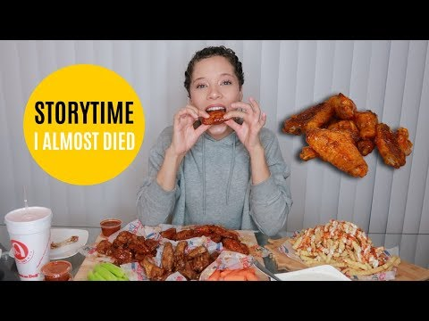STORYTIME MUKBANG WITH FRIENDS | AMERICAN DELI WINGS