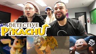 POKEMON IN REAL LIFE! REACTING TO POKEMON Detective Pikachu Trailer! DETECTIVE PIKACHU REACTION