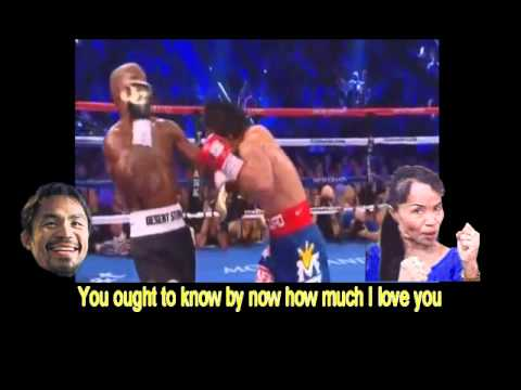 MANNY PACQUIAO KARAOKE   NOTHING'S GONNA CHANGE MY LOVE FOR YOU  feat PACQUIAO BRADLEY FIGHT DRAMA