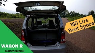 Wagon R Boot Space // 2017 || User review