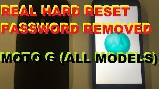 Hard Reset Master Clear Motorola Moto G Verizon Boost Mobile Gsm Cdma Password Removal