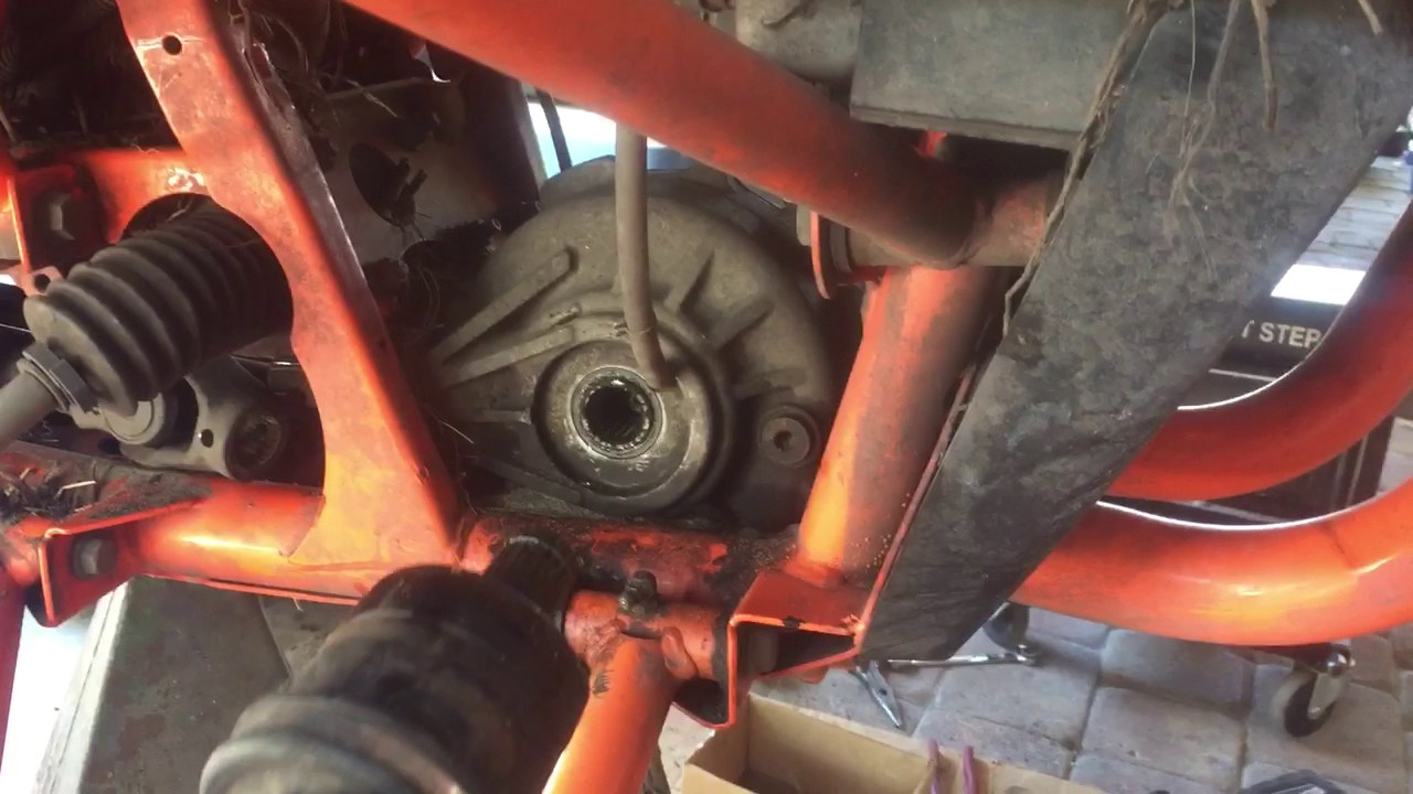 Polaris RZR 1000 front differential removal and