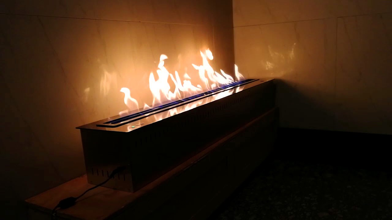 real flame fireplace burner controlled by smartphone youtube