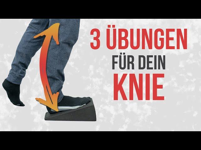 Nie mehr Knieschmerzen ❌ Behandle dich in 3 Schritten selbst!
