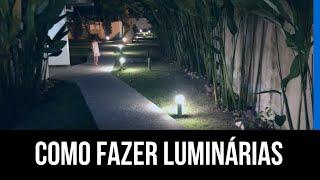 Como Fazer Luminárias Para Jardim - Passo A Passo