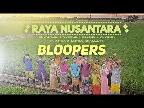 Raya Nusantara [Bloopers] - Rizky Febian, Fatin Shidqia, Siti Nordiana, Ismail Izzani, Sufi Rashid