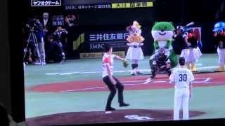 日本シリーズ第一戦、ヤクルト 対 ソフトバンク。