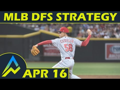 MLB DFS Projections & Strategy | Monday 4/16 | FanDuel & DraftKings