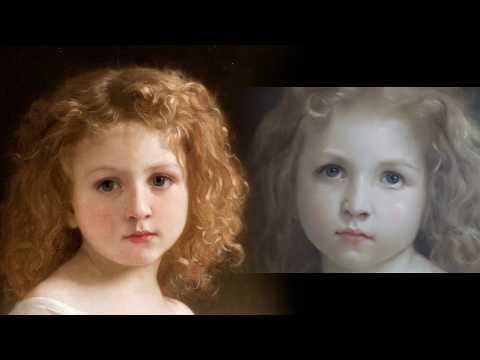 """Как написать портрет. Этюд  """"Девочка с книгой"""" William Adolphe Bouguereau"""