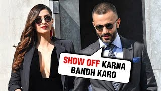 Anand Ahuja Calls Wife Sonam Kapoor A SHOW OFF Publicly | 10 Year Challenge
